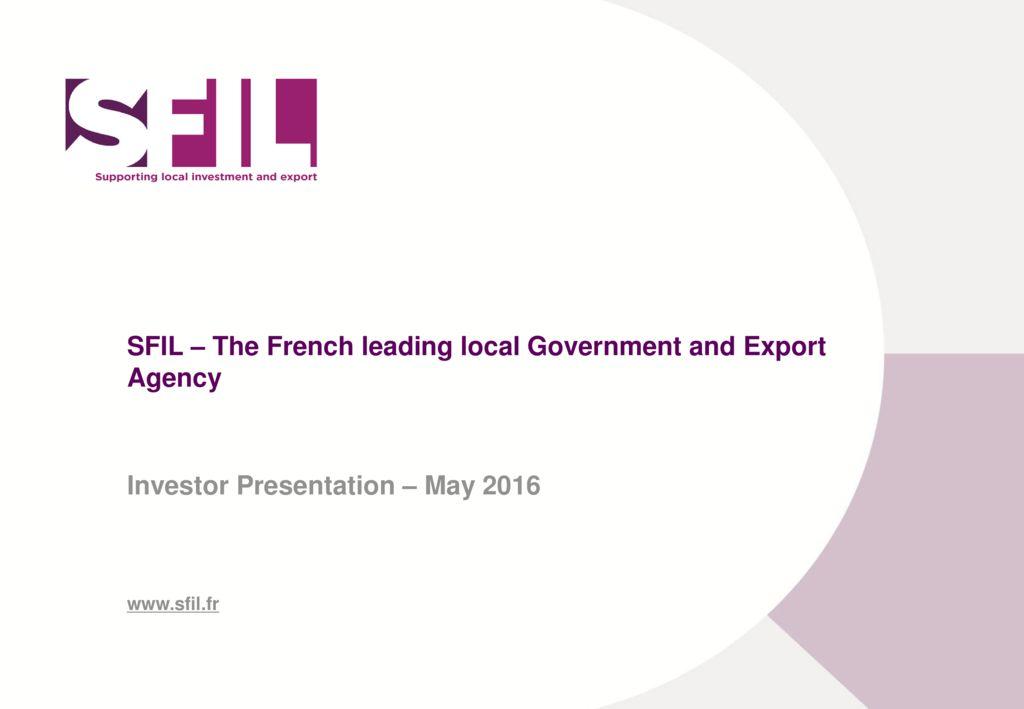 20160524 SFIL Investor Presentation – Short Version