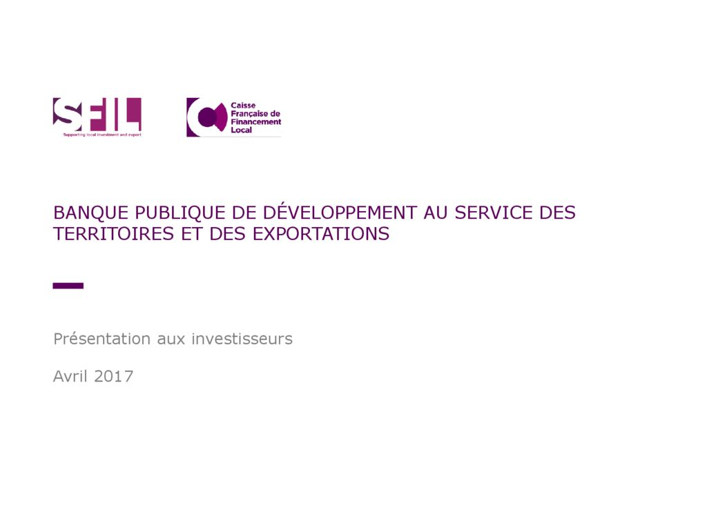 20170405 Investor Presentation -Version courte