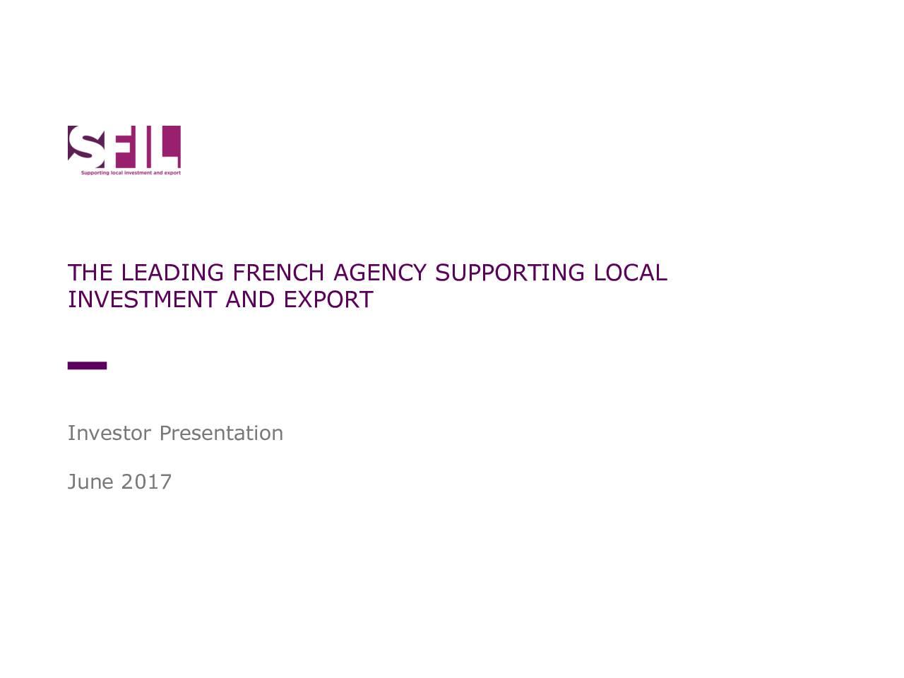20170619 SFIL Investor Presentation – inaugural USD benchmark