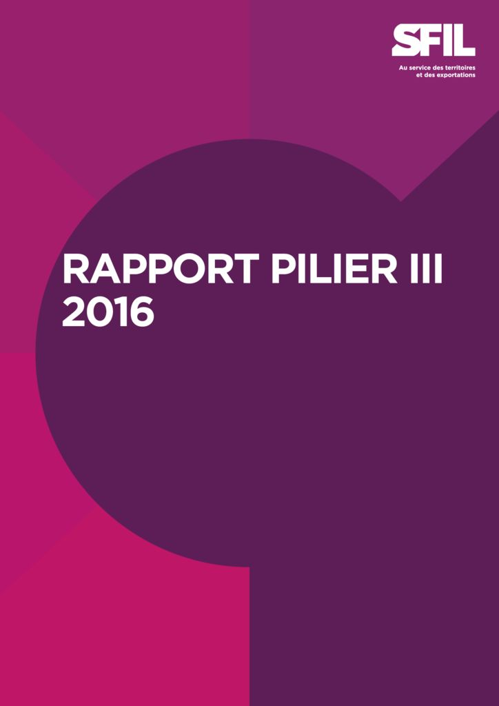Rapport SFIL Pilier III 2017